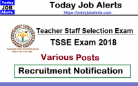 TSSE Exam Recruitment Notification 2018 for Various Post
